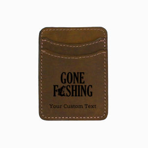 Gone Fishing Personalized Cash Band Wallet Thumbnail