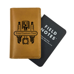 Personalized Leather Field Notes Cover for Mechanic Thumbnail